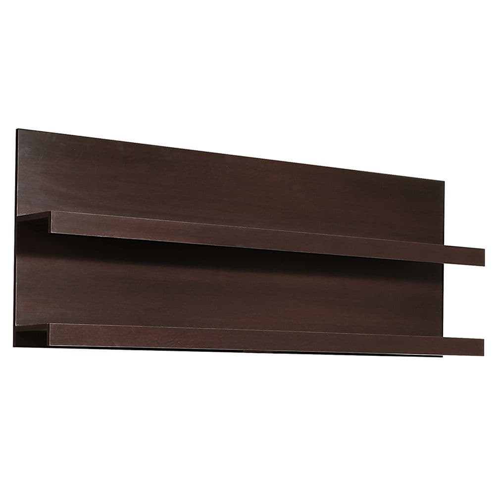 Palma 166cm Wide Wall Shelf in Dark Mahogany